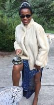 Fab Designer LLoyds cinnamon white blonde Mink Fur coat jacket  bolero S-M 2-10 - $899.99