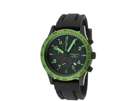 Jorg Gray Watch JG1900-13 Men's Chronograph Black Dial Green IP Bezel Black - $129.92