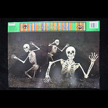 Gothic Dungeon-SKELETONS ESCAPE ATTACK-Window Cling Halloween Horror Dec... - $3.93