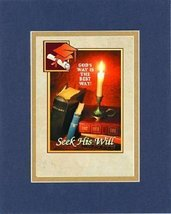 Inspirational Plaques - Gods way is the best way! Seek his will . . . 8 x 10 Inc - $11.14
