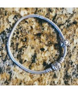 """PANDORA Sterling Silver Original Bracelet with One Charm Silver Hearts 7.5"""" - $49.99"""
