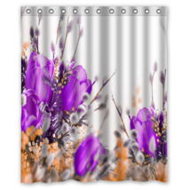 Violet Tulips Flower #01 Shower Curtain Waterproof Made From Polyester - $31.26+