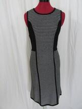 Calvin Klein Black/White Strip Tank Knit Dress Size M - $32.99