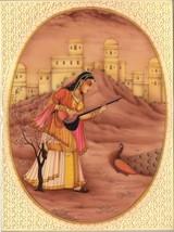 Sorathi Ragini Rajasthani Miniature Painting Indian Ethnic Handmade Raga... - $215.99