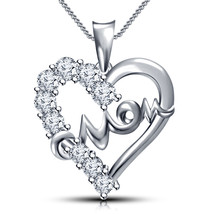 "Mother's day 925 Sterling Silver Heart in Mom Pendant with 18"" Chain + F... - $63.99"
