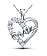 """Mother's day 925 Sterling Silver Heart in Mom Pendant with 18"""" Chain + F... - $63.99"""