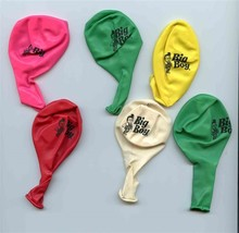 6 Big Boy Restaurants Colored Balloons Pink Red Green Yellow White - $17.82