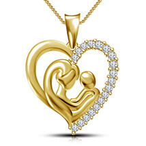 Mother's day special offer 14K Gold Plated 925 Sterling Silver Mom Heart... - $79.99