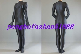 LYCRA SPANDEX ZENTAI BLACK BODY SUIT CATSUIT COSTUMES HALLOWEEN SUIT S021 - $32.99
