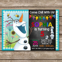 Frozen Olaf Digital Invitation, Movie Birthday Invites - $8.00