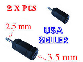 2pc 3.5 mm to 2.5 mm HEADPHONE ADAPTER JACK CONVERT - $4.99