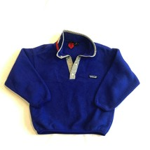 Patagonia Vintage Kids Blue Snap-T Fleece Pullover Youth Size Small (7-8) - $39.99