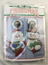 Bucilla Christmas Santa & Snowman Felt Door Knob covers 82756 NEW! - $18.68