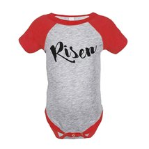 Custom Party Shop Baby's Risen Happy Easter Red Onepiece 18 Months - $20.58