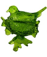 """Westmoreland Glass Olive Green Robin On Twig Nest 6""""l Covered Serving Dish - $89.99"""
