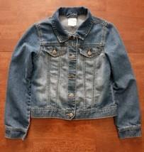 Childrens Place Boys Girls Denim Jean Jacket Size XL 14 Blue Medium Wash - $18.56