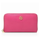 NWT TORY BURCH Robinson Zip Around Continental Wallet Saffiano Leather P... - $146.25