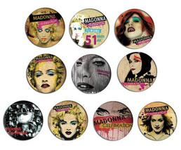 MADONNA celebration pop art pin pinback button BADGE Magnet KEYCHAIN SET 1b - $5.50+