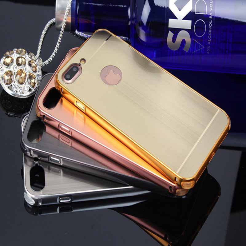 Plating Brushed Shockproof Case Cover for iPhone 7 Plus