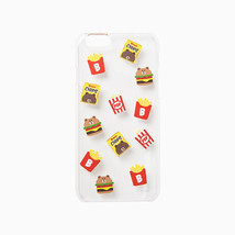 LINE Friends Clear Burger & Chips iPhone Hard Case SE/5/5s/6/6s/Plus Cov... - $29.90+