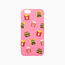 LINE Friends Pink Burger & Chips iPhone Hard Case SE/5/5s/6/6s/Plus Cove... - $32.70+