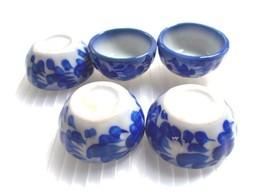 Set 5 Mini Bowl Ceramic Handcraft Handmade Dollhouse Miniature Collec Ho... - $14.95