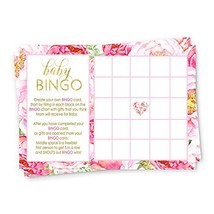 Floral Baby Shower Bingo Game Cards 25 Pack - £10.24 GBP