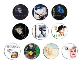 MADONNA true blue, Who's that girl pin pinback button BADGE Magnet KEYCH... - $5.50+