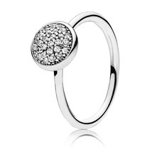 925 Sterling Silver Dazzling Droplet with Clear CZ Ring For Women QJCB1019 - $25.88