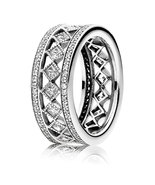 925 Sterling Silver Vintage Fascination with Clear CZ Ring For Women QJC... - $29.99
