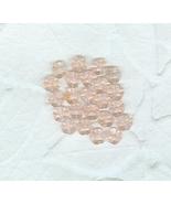20 Vintage Translucent Pink  Glass  Daisy Flowe... - $6.00