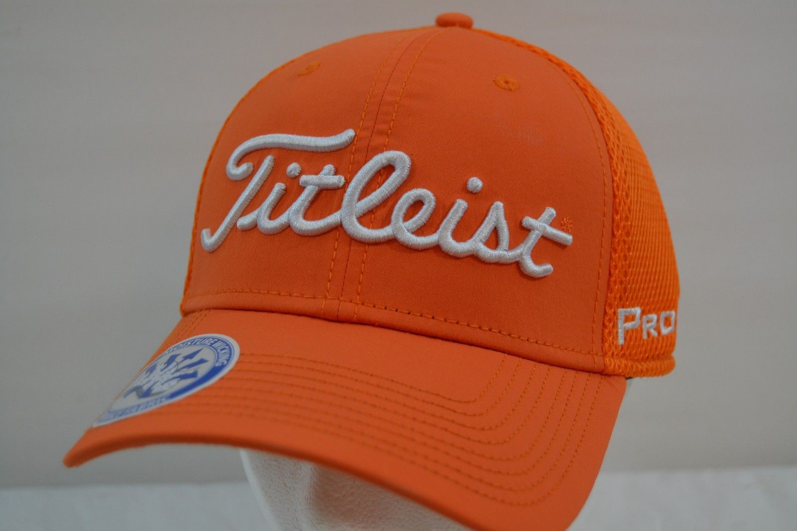 Titleist Golf Sport Mesh Orange/White Baseball Cap NWT Flex Fit M/L