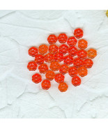 20 Vintage  Hyacinth Orange Translucent  Glass ... - $6.00