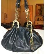 Juicy Couture Black Leather Hobo Bag Handbag Pu... - $24.00