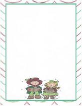 Christmas Carolers Stationery Printer Paper 26 Sheets - $9.89