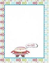 Christmas Santa Ho Ho Ho Stationery Printer Paper 26 Sheets - $9.89