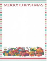Merry Christmas Presents Stationery Printer Paper 26 Sheets - $9.89
