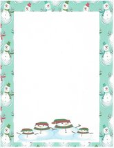 Christmas Snowman's Family Stationery Printer Paper 26 Sheets - $9.89