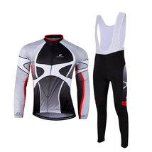 ZEROBIKE Men's Outdoor Sports Long Sleeve Cycling Jersey and Bib Pants Set - $45.53
