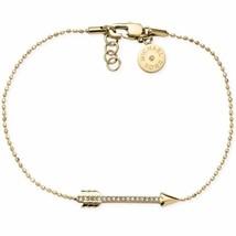 Michael Kors MKJ3934 Gold-Tone Beaded Bracelet with Crystallized Arrow C... - $47.75