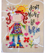 Be Hippie funky cross stitch chart Barbara Ana Designs - $7.65