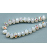 75 Contemporary  White Aurora Borealis Finish F... - $6.00