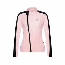 Women's Pink Titleist Long Sleeve Polyester Golf Windbreaker Sportswear ... - $79.95