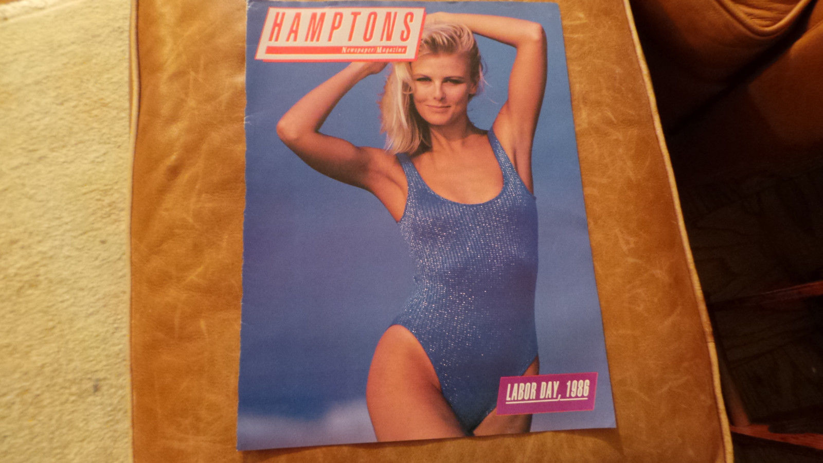Cheryl Tiegs Hamptons Magazine..Cover Only.. rare from Labor Day, 1988 VG+