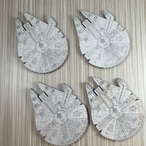 Millennium Falcon Wood Coasters - $20.00
