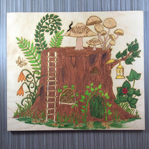 Tree Stump House; Hand Painted Wall Decor - $15.00