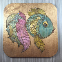 Round Fish Wall Decor; Hand Painted - $15.00