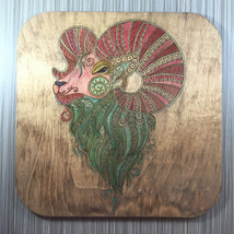 Embelished Ram Wall Decor; Hand Painted - $15.00