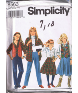 simplicity 8563 Girls Pants, Skirt, Shirt, Line... - $4.00