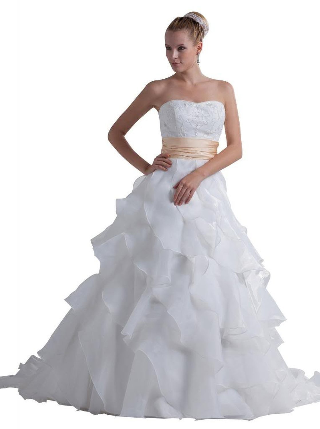 Albizia Charming Strapless Princess Wedding Gown With